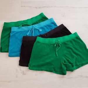 4 pairs Juicy Couture terry shorts size Medium